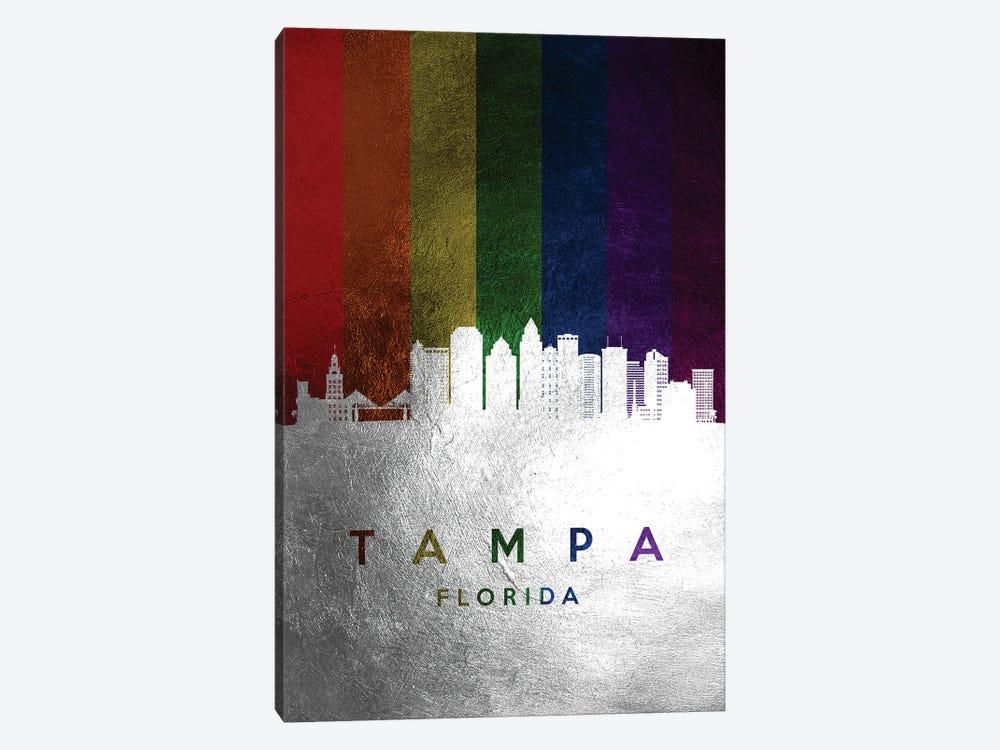 Tampa Florida Spectrum Skyline by Adrian Baldovino 1-piece Art Print