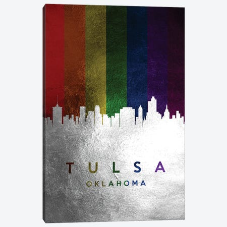 Tulsa Oklahoma Spectrum Skyline Canvas Print #ABV763} by Adrian Baldovino Canvas Art
