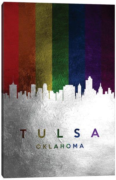 Tulsa Oklahoma Spectrum Skyline Canvas Art Print
