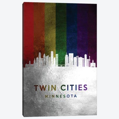 Twin Cities Minnesota Spectrum Skyline Canvas Print #ABV765} by Adrian Baldovino Canvas Print