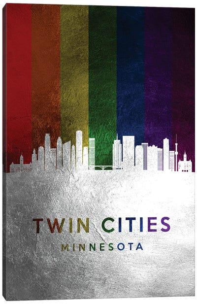 Twin Cities Minnesota Spectrum Skyline Canvas Art Print