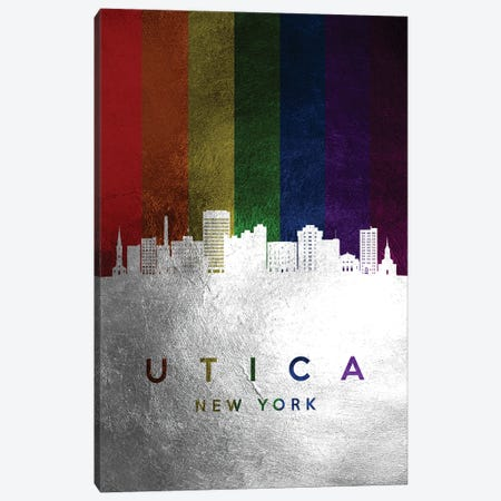 Utica New York Spectrum Skyline Canvas Print #ABV766} by Adrian Baldovino Canvas Art Print
