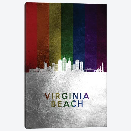 Virginia Beach Spectrum Skyline Canvas Print #ABV767} by Adrian Baldovino Canvas Print