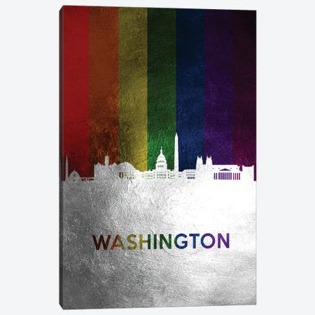 Washington Spectrum Skyline Canvas Print #ABV768} by Adrian Baldovino Canvas Artwork
