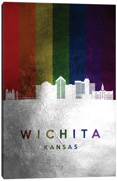 Wichita Kansas Spectrum Skyline Canvas Art Print