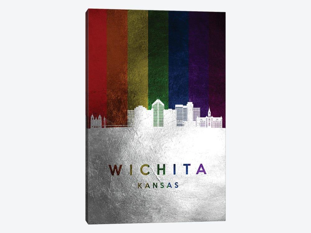 Wichita Kansas Spectrum Skyline by Adrian Baldovino 1-piece Canvas Artwork
