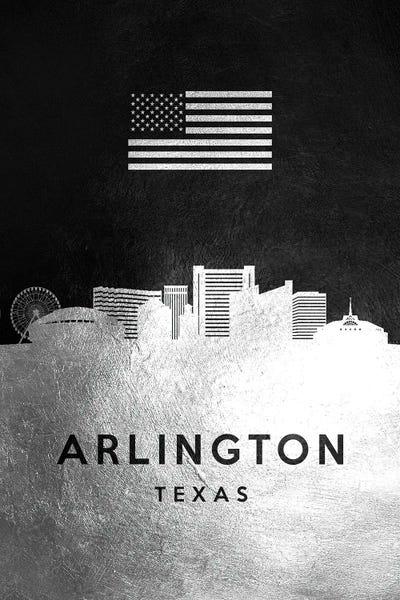 ARLINGTON CITY MAP Texas Map Print Arlington Fine Art Poster