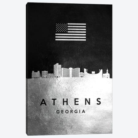 Athens Georgia Silver Skyline Canvas Print #ABV777} by Adrian Baldovino Canvas Artwork