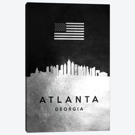 Atlanta Georgia Silver Skyline Canvas Print #ABV778} by Adrian Baldovino Canvas Print