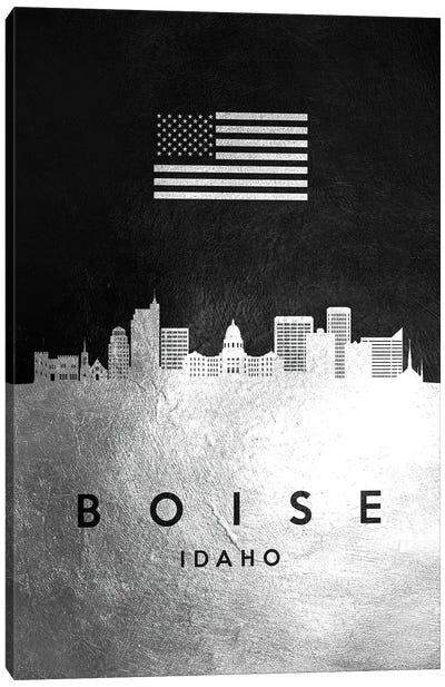 Boise Idaho Silver Skyline Canvas Art Print