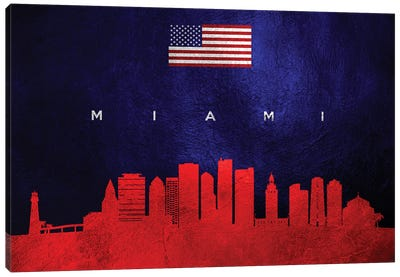 Miami Florida Skyline Canvas Art Print