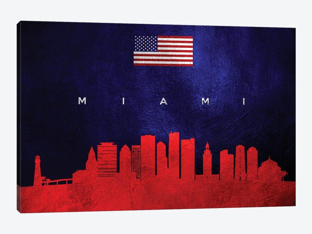 Miami Florida Skyline by Adrian Baldovino 1-piece Art Print