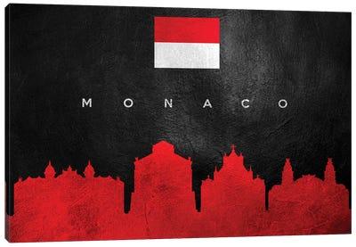 Monaco Skyline Canvas Art Print