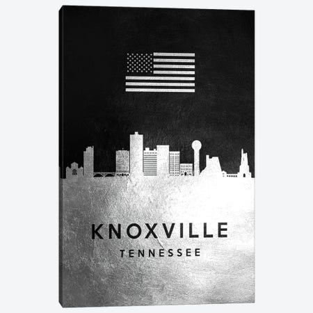 Knoxville Tennessee Silver Skyline Canvas Print #ABV820} by Adrian Baldovino Canvas Print