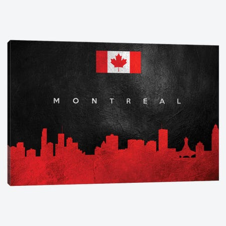 Montreal Canada Skyline Canvas Print #ABV82} by Adrian Baldovino Canvas Wall Art