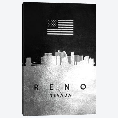 Reno Nevada Silver Skyline Canvas Print #ABV854} by Adrian Baldovino Canvas Print