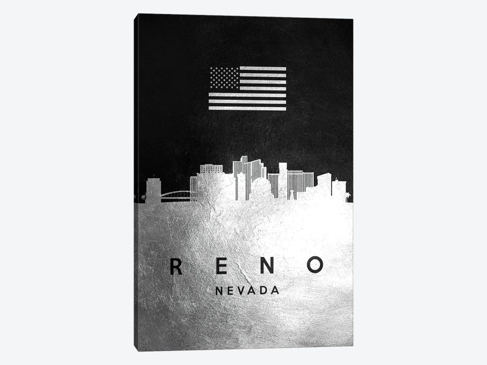 Reno Nevada Silver Skyline by Adrian Baldovino 1-piece Canvas Art