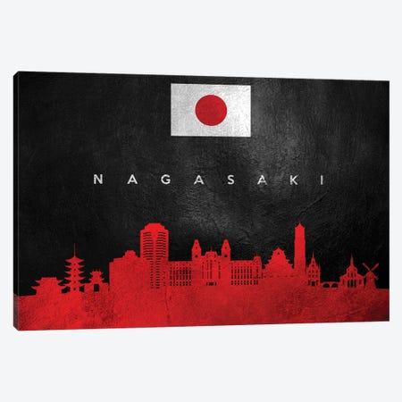 Nagasaki Japan Skyline Canvas Print #ABV86} by Adrian Baldovino Canvas Art Print
