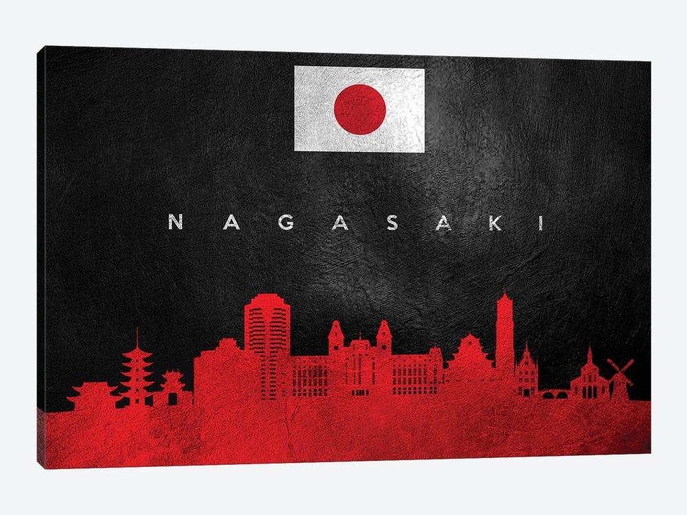 Nagasaki Japan Skyline by Adrian Baldovino 1-piece Canvas Art Print