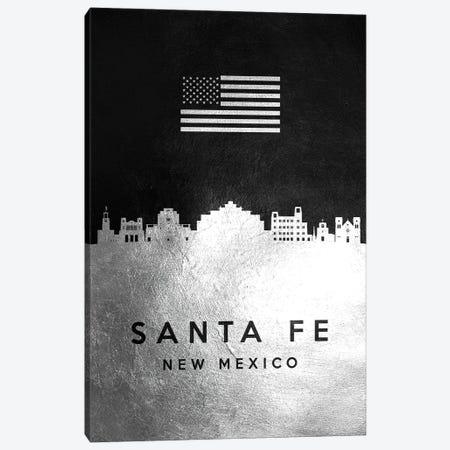 Santa Fe New Mexico Silver Skyline Canvas Print #ABV871} by Adrian Baldovino Canvas Artwork