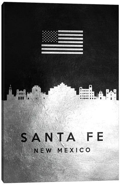Santa Fe New Mexico Silver Skyline Canvas Art Print