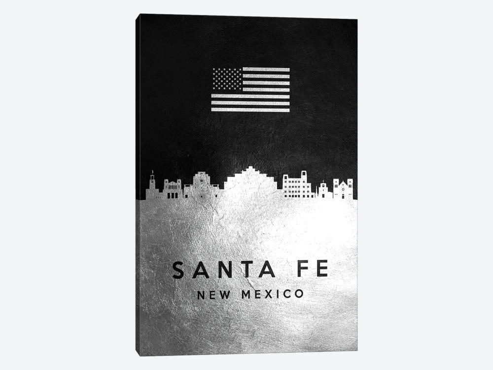 Santa Fe New Mexico Silver Skyline by Adrian Baldovino 1-piece Canvas Print