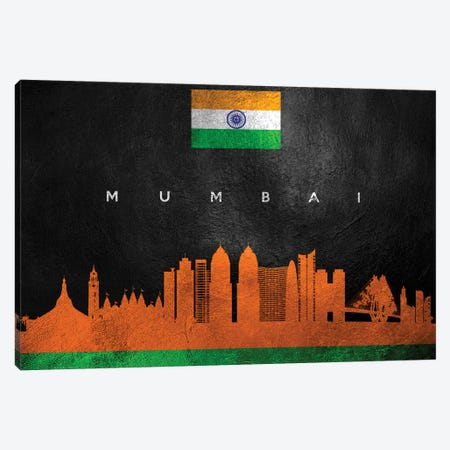 Mumbai India Skyline Canvas Print #ABV87} by Adrian Baldovino Canvas Art Print