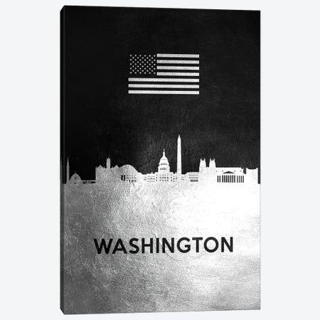 Washington Silver Skyline Canvas Print #ABV883} by Adrian Baldovino Canvas Art Print