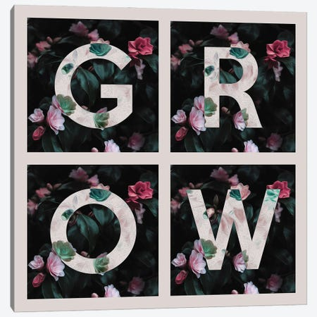 Grow Canvas Print #ABV887} by Adrian Baldovino Canvas Artwork