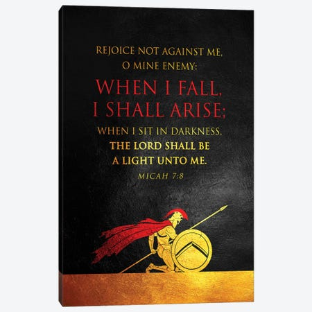 Micah 7:8 Bible Verse Canvas Print #ABV892} by Adrian Baldovino Canvas Artwork