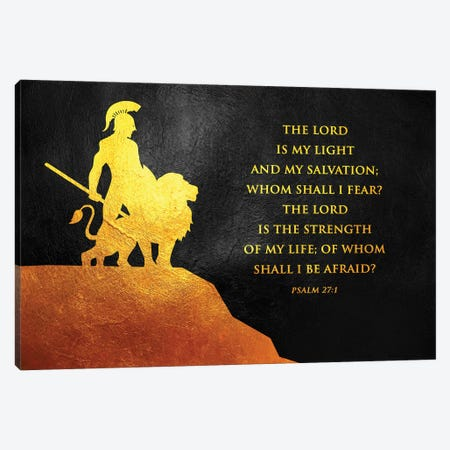 Psalm 27:1 Bible Verse Canvas Print #ABV894} by Adrian Baldovino Canvas Art Print