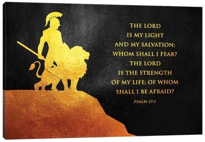 Psalm 27:1 Bible Verse Canvas Art Print