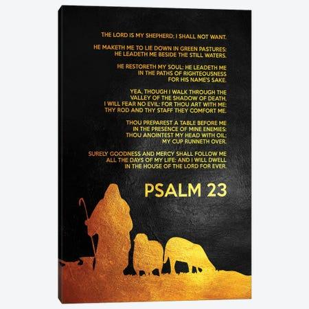 Psalm 23 Bible Verse Canvas Print #ABV895} by Adrian Baldovino Canvas Art Print