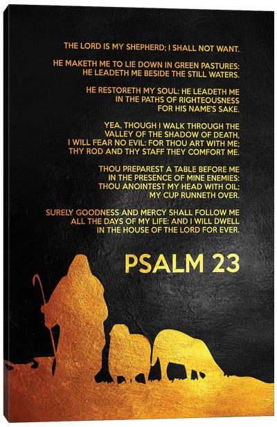 Psalm 23 Bible Verse Canvas Art Print