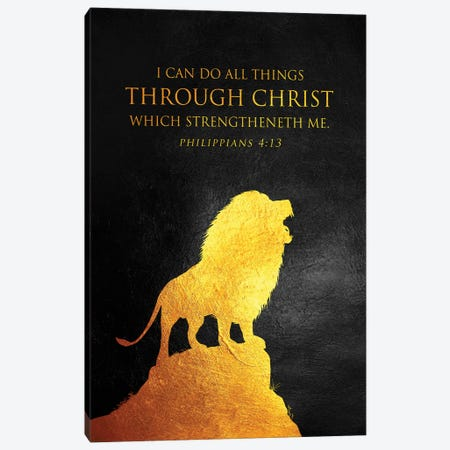 Philippians 4:13 Bible Verse Canvas Print #ABV896} by Adrian Baldovino Canvas Print