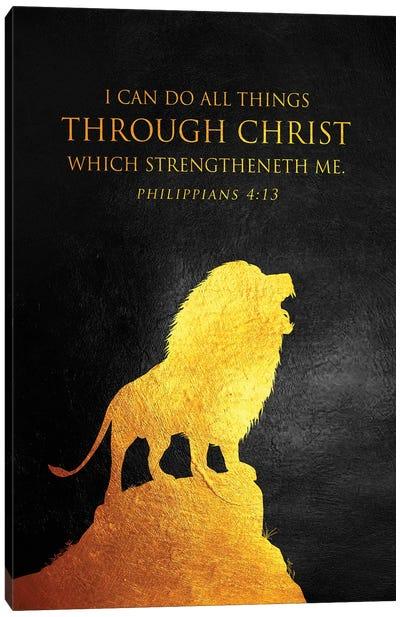 Philippians 4:13 Bible Verse Canvas Art Print