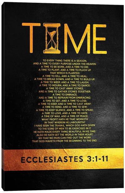 Ecclesiastes 3:1-11 Canvas Art Print