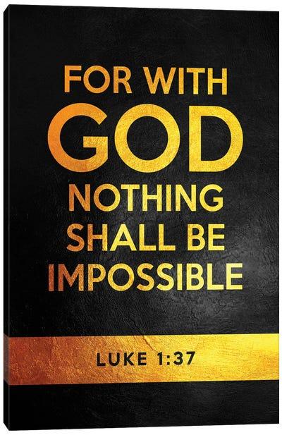 Luke 1:37 Bible Verse Canvas Art Print