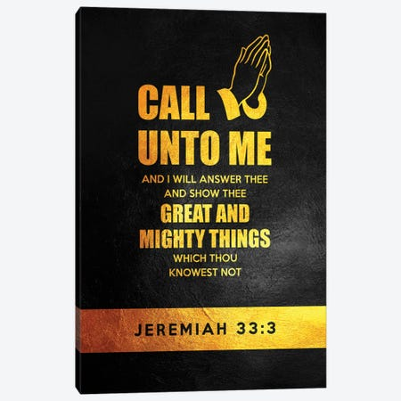Jeremiah 33:3 Bible Verse Canvas Print #ABV899} by Adrian Baldovino Canvas Artwork