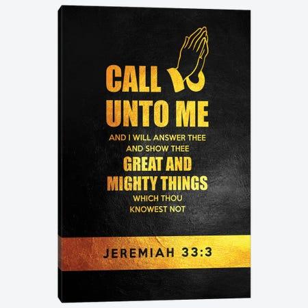 Jeremiah 33:3 Bible Verse Canvas Print #ABV899} by Adrian Baldovino Canvas Artwork