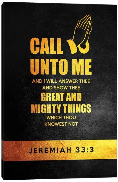 Jeremiah 33:3 Bible Verse Canvas Art Print