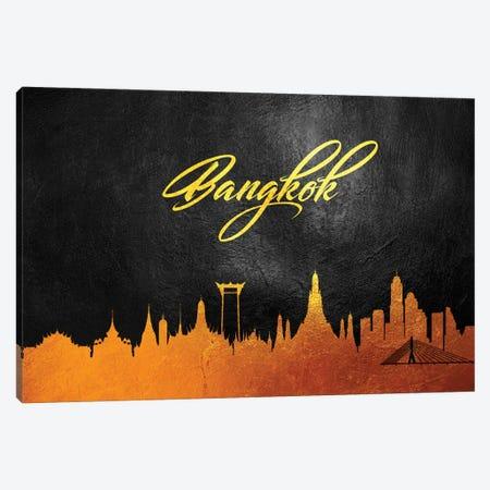 Bangkok Thailand Gold Skyline 3-Piece Canvas #ABV8} by Adrian Baldovino Canvas Print