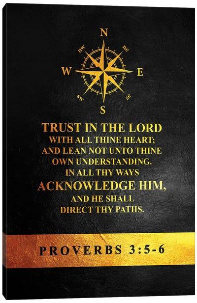 Proverbs 3:5-6 Bible Verse Canvas Art Print