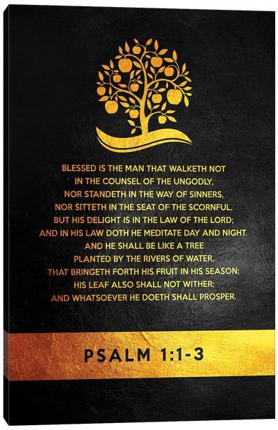 Psalm 1:1-3 Bible Verse Canvas Art Print