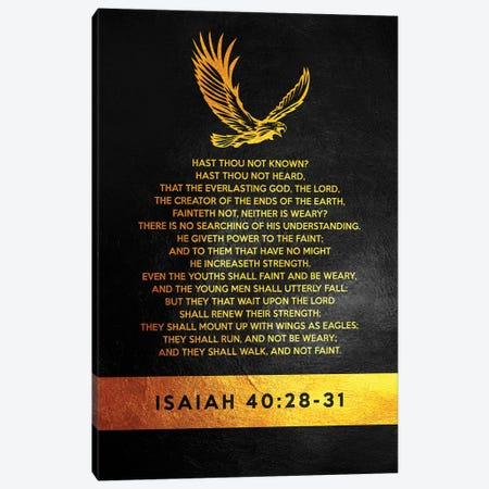 Isaiah 40:28-31 Bible Verse Canvas Print #ABV905} by Adrian Baldovino Canvas Print