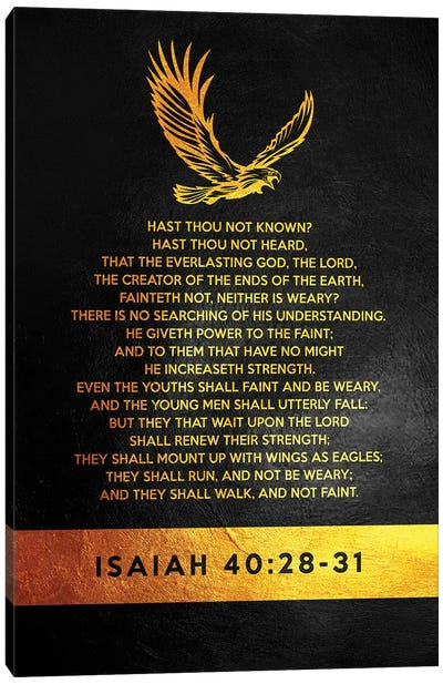 Isaiah 40:28-31 Bible Verse Canvas Art Print