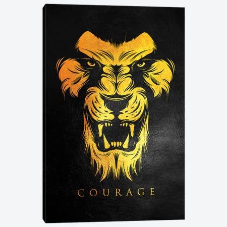 Lion Courage Canvas Print #ABV908} by Adrian Baldovino Canvas Art