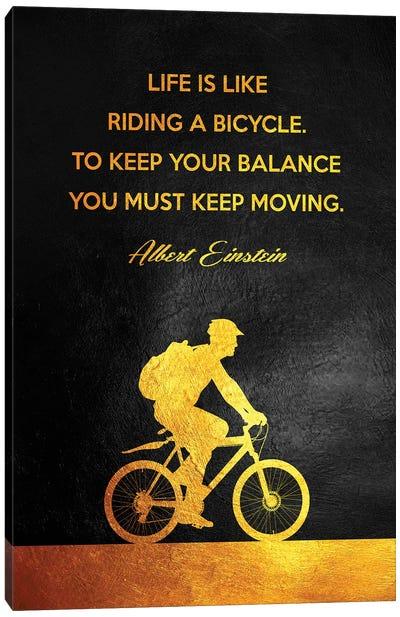 Albert Einstein - Keep Moving Canvas Art Print