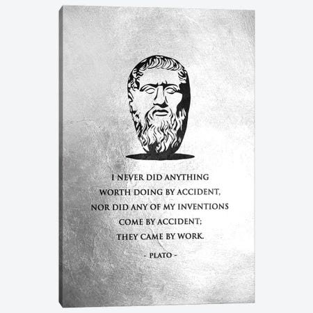 Plato - Hard Work Canvas Print #ABV912} by Adrian Baldovino Canvas Art Print