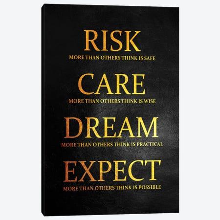 Take The Risk Canvas Print #ABV925} by Adrian Baldovino Art Print